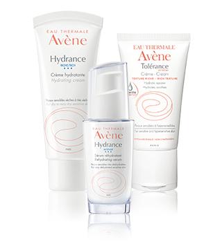 Vlaženje občutljive in preobčutljive kože Avène